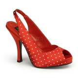 Points Blancs 11,5 cm CUTIEPIE-03 Rouge Escarpins Haut Talon