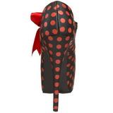 Points Rouge 14,5 cm Burlesque TEEZE-25 Noir Escarpins Haut Talon