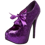 Pourpre Etincelle 14,5 cm Burlesque TEEZE-10G Platform Escarpins Chaussures