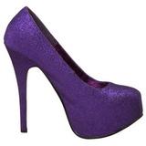 Pourpre Etincelle 14,5 cm Burlesque TEEZE-31G Platform Escarpins Chaussures