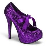 Pourpre Etincelle 14,5 cm TEEZE-10G Platform Escarpins Chaussures