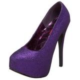 Pourpre Etincelle 14,5 cm TEEZE-31G Platform Escarpins Chaussures