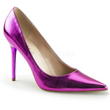 Pourpre Métallique 10 cm CLASSIQUE-20 grande taille chaussures stilettos