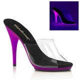 Pourpre Neon 13 cm POISE-501UV Plateforme Mules Chaussures