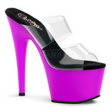 Pourpre Neon 18 cm ADORE-702UV Plateforme Mules Chaussures