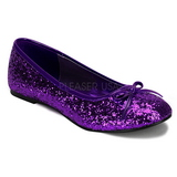 Pourpre STAR-16G etincelle chaussures ballerines femmes plates