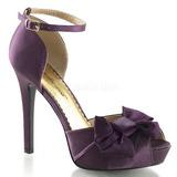 Pourpre Satin 12 cm LUMINA-36 Chaussures Escarpins de Soirée