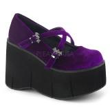 Pourpre Velours 11,5 cm KERA-10 chaussures lolita plateforme