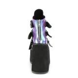 Pourpre glitter 14 cm SWING-105 bottines plateforme compensées lolita