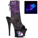 Pourpre paillettes 18 cm MOON-1018MER bottines de pole dance