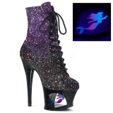 Pourpre paillettes 18 cm MOON-1020MER bottines de pole dance