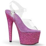 Pourpre paillettes 18 cm Pleaser ADORE-708HMG chaussure à talons de pole dance