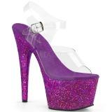 Pourpre paillettes 18 cm Pleaser ADORE-708LG chaussure à talons de pole dance