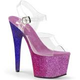Pourpre paillettes 18 cm Pleaser ADORE-708OMBRE chaussure à talons de pole dance