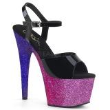 Pourpre paillettes 18 cm Pleaser ADORE-709OMB chaussure à talons de pole dance