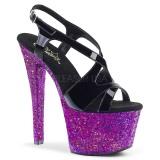Pourpre paillettes 18 cm Pleaser SKY-330LG chaussure à talons de pole dance