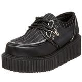 Raye 5 cm CREEPER-113 chaussures creepers femmes