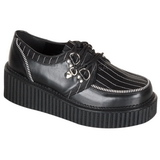 Raye 5 cm CREEPER-113 chaussures creepers femmes