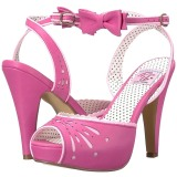 Rose 11,5 cm Pinup BETTIE-01 sandales à talons aiguilles