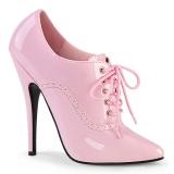 Rose 15 cm DOMINA-460 chaussures oxford à talon haut hommes