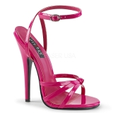 Rose 15 cm Devious DOMINA-108 sandales à talons aiguilles