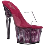 Rose 18 cm ADORE-701SRS Pierre strass plateforme mules femme