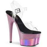 Rose 18 cm ADORE-708-2HGM chaussures plateforme et talons glitter