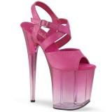 Rose 20 cm FLAMINGO-822T chaussures plateforme et talons