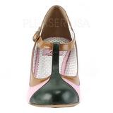 Rose 8 cm retro vintage PEACH-03 Pinup escarpins femmes à talons bas