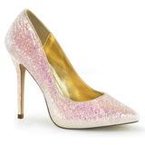 Rose Etincelle 13 cm AMUSE-20G Chaussures Escarpins de Soirée