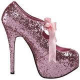Rose Etincelle 14,5 cm Burlesque TEEZE-10G Platform Escarpins Chaussures