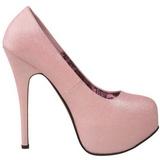 Rose Etincelle 14,5 cm Burlesque TEEZE-31G Platform Escarpins Chaussures