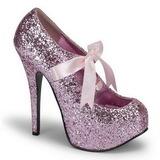 Rose Etincelle 14,5 cm TEEZE-10G Platform Escarpins Chaussures