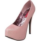 Rose Etincelle 14,5 cm TEEZE-31G Platform Escarpins Chaussures