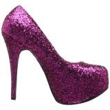 Rose Glitter 14,5 cm Burlesque TEEZE-06GW pieds larges escarpins pour homme