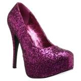 Rose Glitter 14,5 cm TEEZE-06GW pieds larges escarpins pour homme