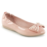 Rose IVY-09 ballerines chaussures plates avec perles