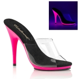 Rose Neon 13 cm POISE-501UV Plateforme Mules Chaussures