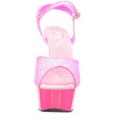 Rose Neon 15 cm Pleaser DELIGHT-609UVG Plateforme Haut Talon