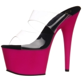 Rose Neon 18 cm ADORE-702UV Plateforme Mules Chaussures