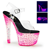Rose Neon 18 cm Pleaser CRYSTALIZE-308PS Plateforme Haut Talon