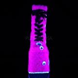 Rose Peau 18 cm SLAY-206 bottines plateforme lolita