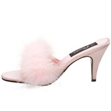 Rose Plumes 8 cm AMOUR-03 Chaussures Mules pour Hommes