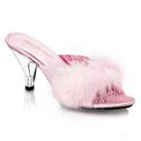 Rose Plumes 8 cm BELLE-301F Chaussures Mules pour Hommes