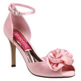 Rose Satin 9,5 cm ROSA-02 Sandales Femme a Talon
