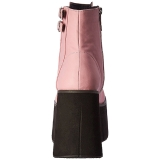 Rose Similicuir 11,5 cm KERA-21 bottines lolita talons compensées