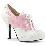 Rose Similicuir 11,5 cm PINUP-07 grande taille chaussures oxford