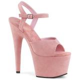 Rose Similicuir 18 cm ADORE-709FS sandales à talons aiguilles