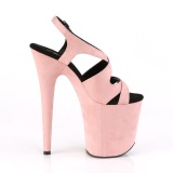 Rose Similicuir 20 cm FLAMINGO-831FS sandales à talons aiguilles