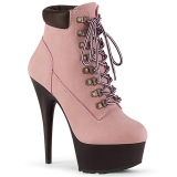 Rose Suédine 15 cm DELIGHT-600TL-02 bottines pleaser plateforme